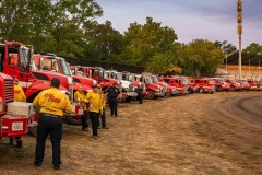 Lineup of First Responder Vehicles. Napa Valley Fires. August 2020.